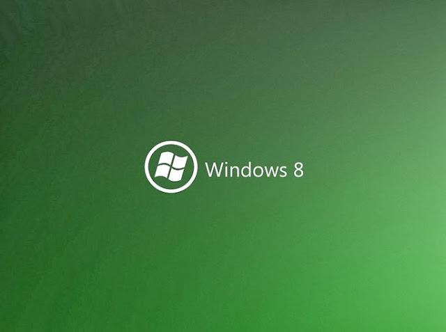 Green Windows 8 Desktop background