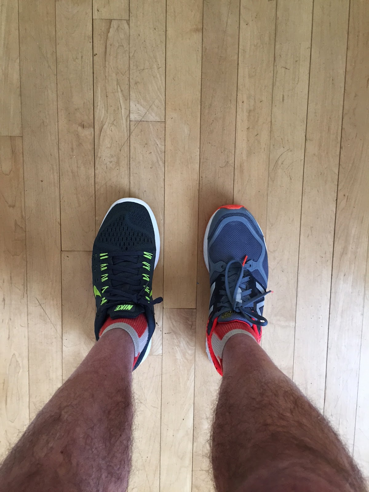 c9fd28f107fac Nike Lunar Tempo (left) New Balance Zante (right) Note wider mid foot arch  area upper of Tempo