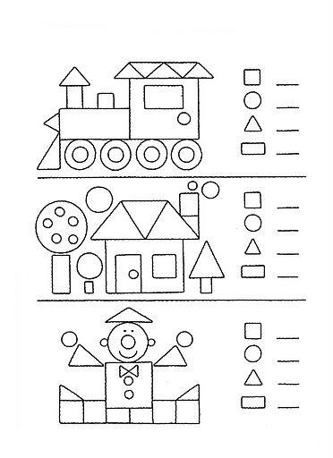 Okul öncesi Geometrik şekiller Boyama Gazetesujin