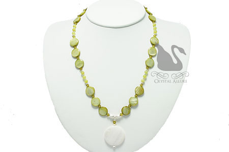 Jade Creation Mother of Pearl Beaded Necklace (NB086)