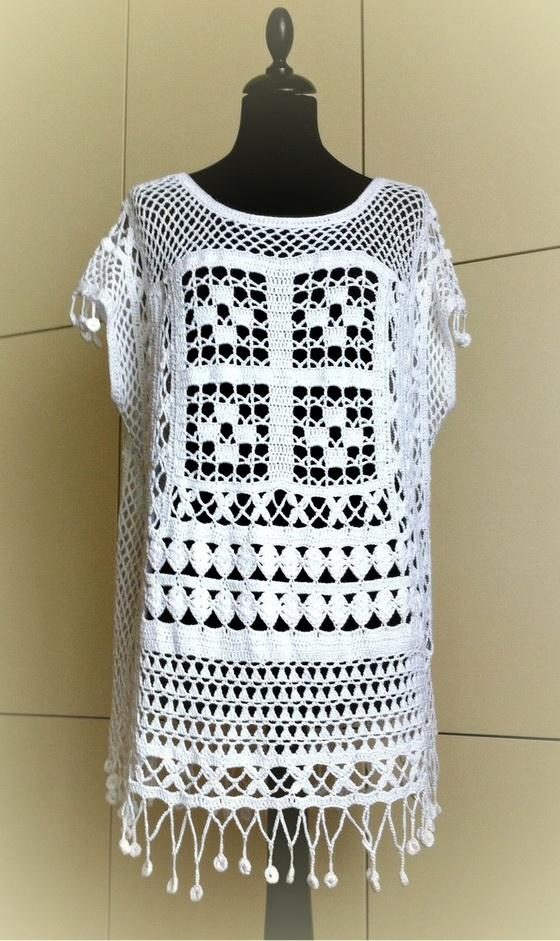Free Crochet Pattern Tunic    Cover Up