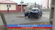 Helyszíni videón a Gyöngyösön történt hajnali buszbaleset