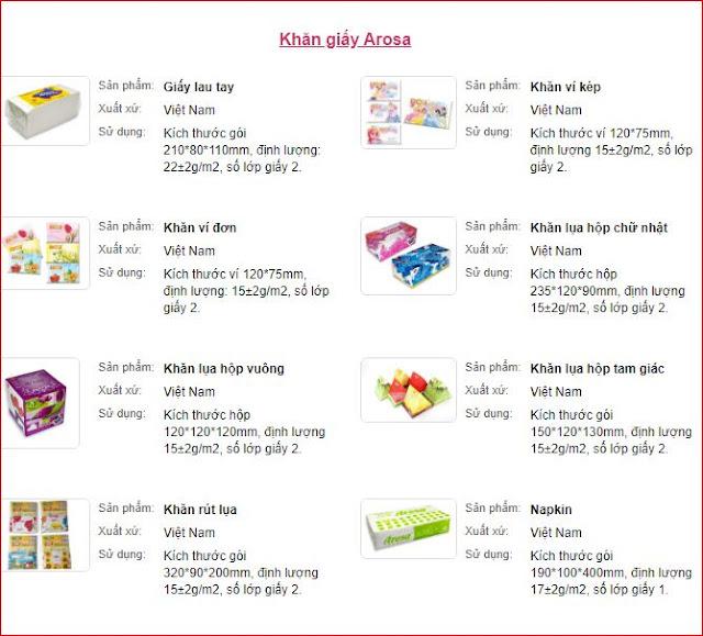Giấy vệ sinh giá rẻ thương hiệu Arosa