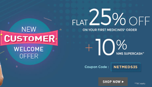 Netmeds New Customer Offfer