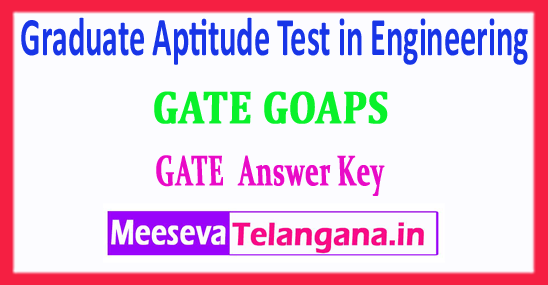 GATE Graduate Aptitude Test in Engineering 2018 GATE Answer Key Download