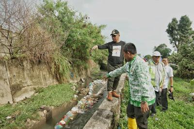 Akhyar Tinjau Sungai Bederah, Material Tol Hambat Aliran Air