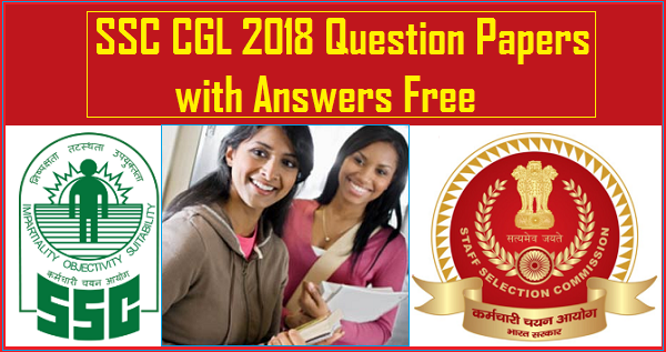 SSC CGL 2018 Tier 1 full Length Tests PDF Question Papers Free