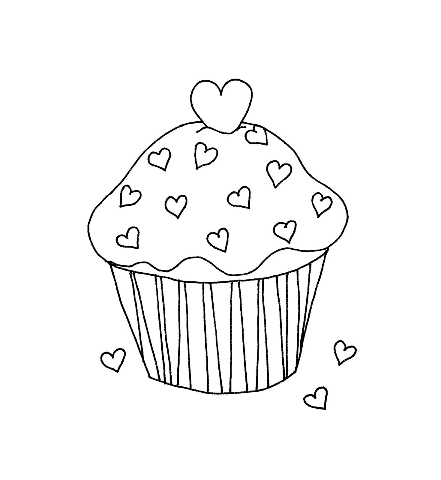 Free Dearie Dolls Digi Stamps Valentine Cupcake