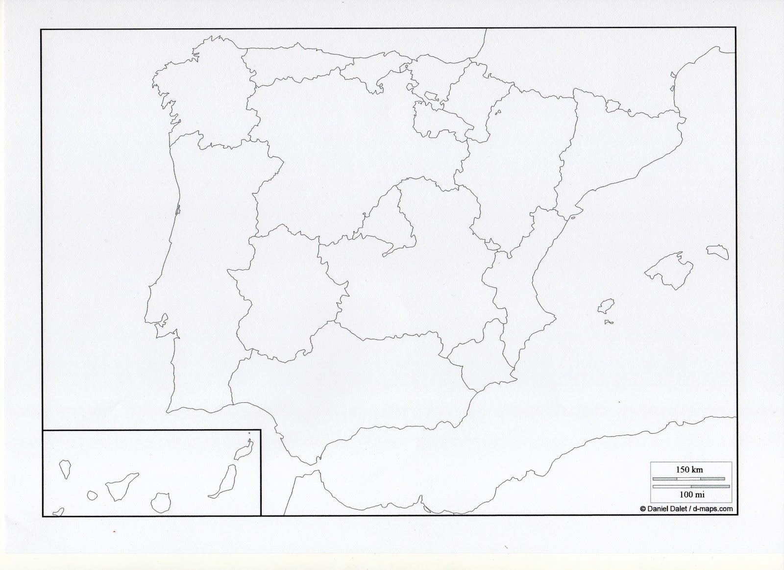 Mapa España Comunidades Autonomas Blanco Y Negro.Marinaeduca Mapas Interactivos De Espana