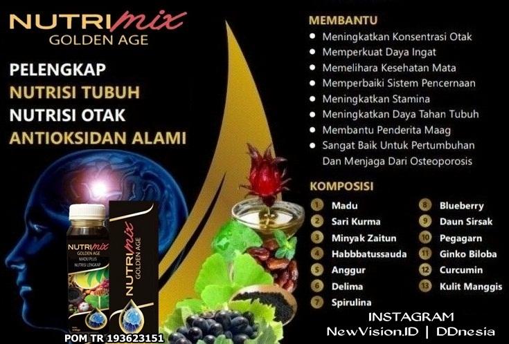 Jual Madu Nutri Mix Golden Age NewVision2u Area Medan Sumatera Utara