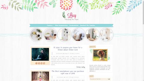 Mẫu Lucy Beauty Blogger Template (Giá 50K)