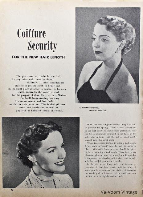 1950s vintage pin curl hair setting pattern