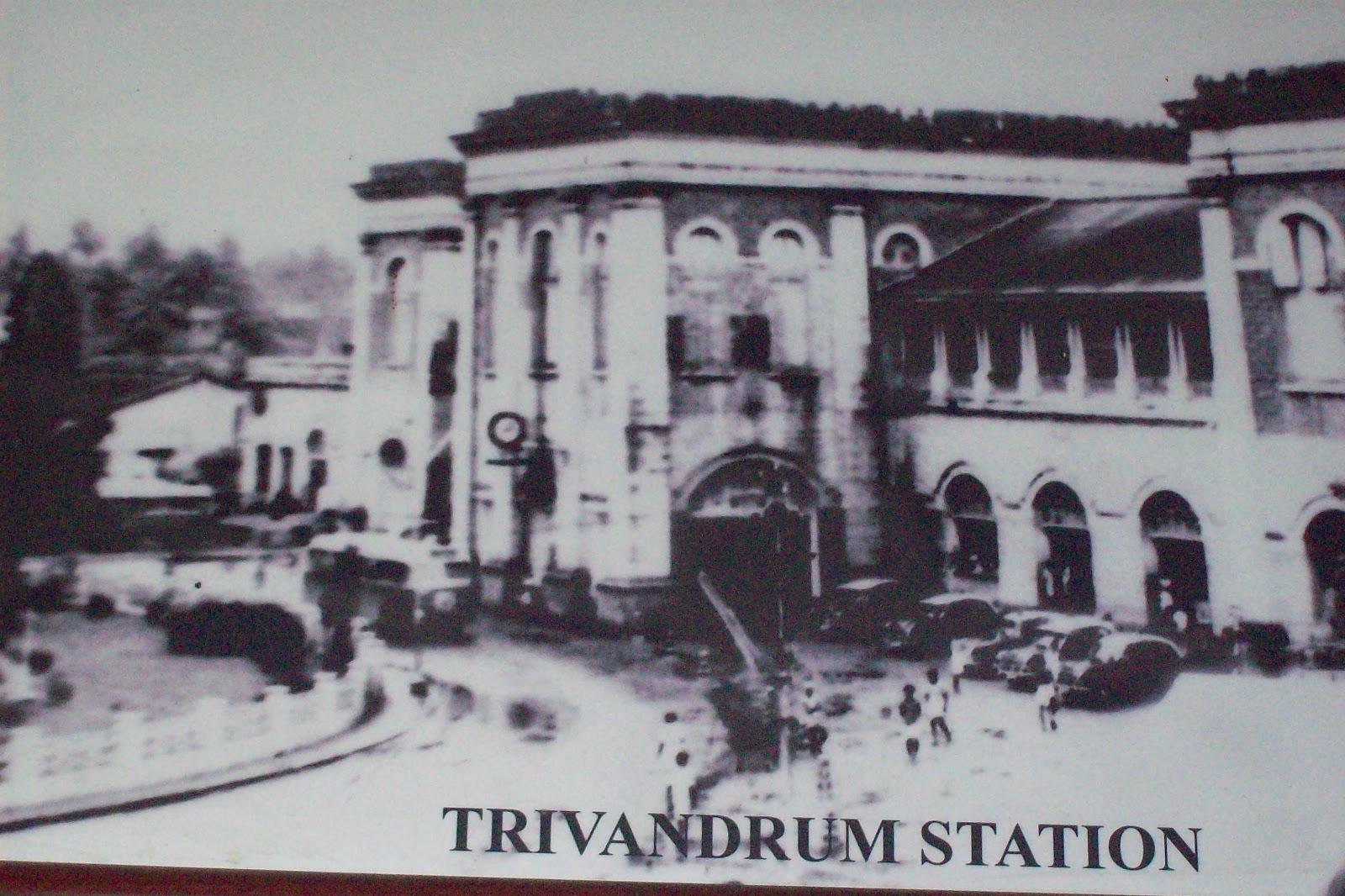 Image result for TRIVANDRUM CENTRAL STATION 1940