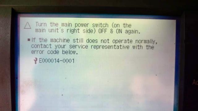 Canon iR3235 Error Code E000014