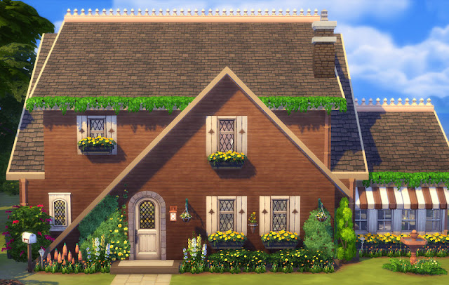 Country A-frame Sims 4 House