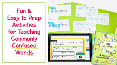 Homophones activities for upper elementary students that can be quickly implemented into their daily routines.