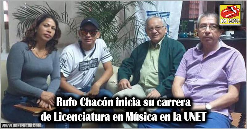 Rufo Chacón inicia su carrera de Licenciatura en Música en la UNET