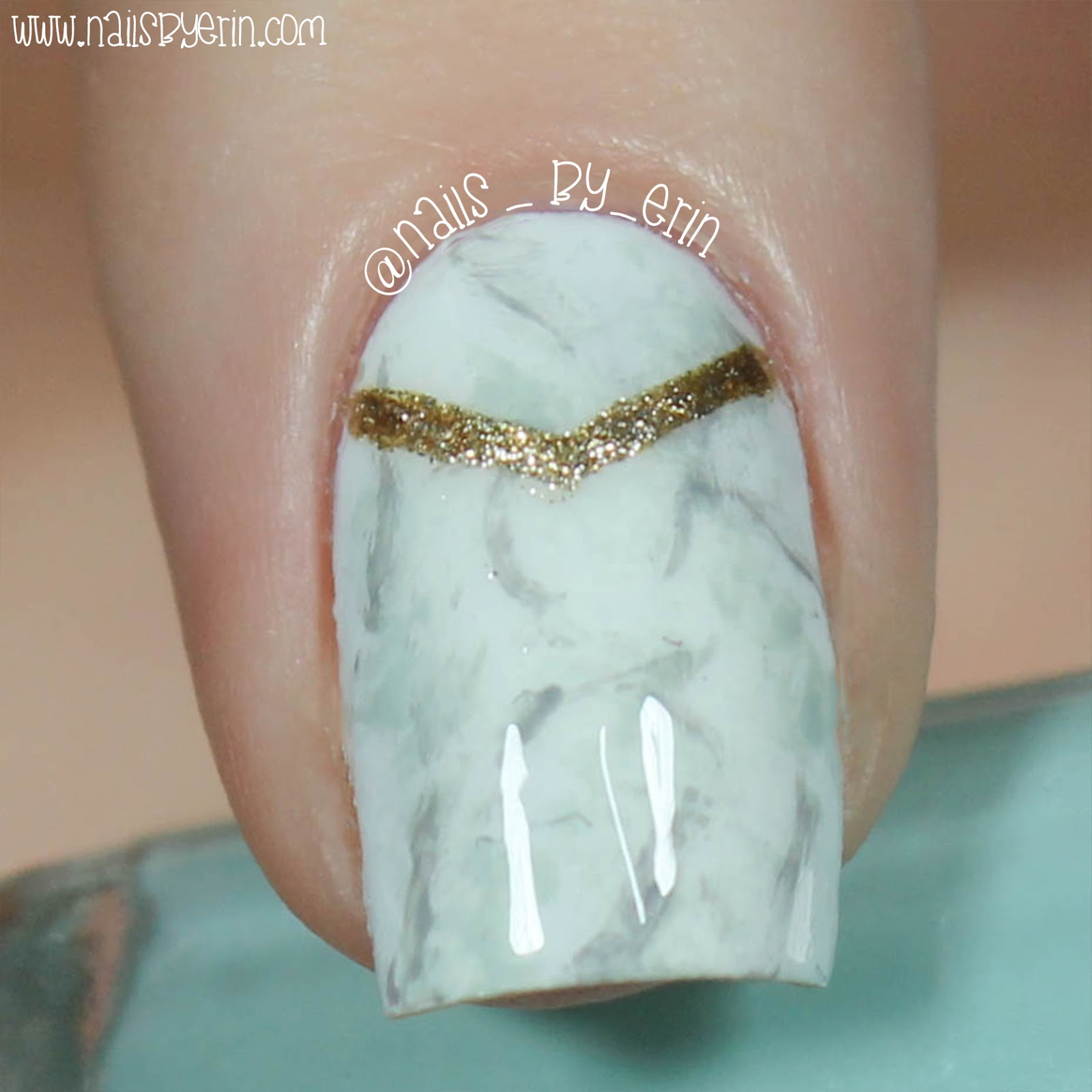Nail Polish Marble Effect On Glass: NailsByErin: Marble Effect Nails