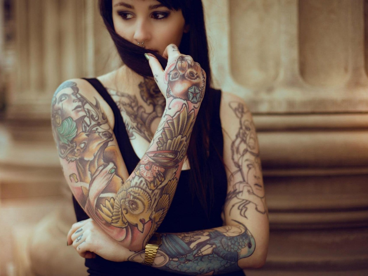 Sexy Wallpaper Sexy Hot Girls With Tattoos-5954