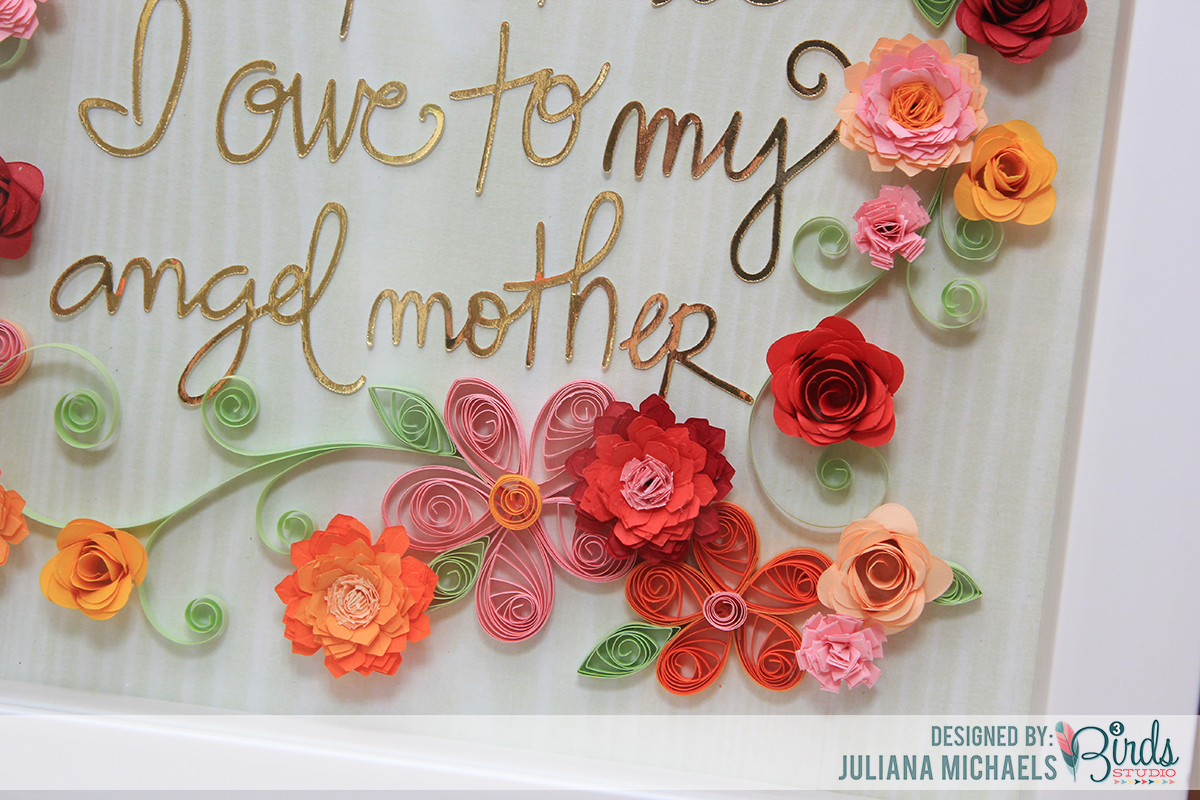 All That I Am Quilled Shadow Box Frame Mother's Day Gift by Juliana Michaels