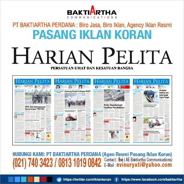 pasang iklan pengumuman di koran pelita
