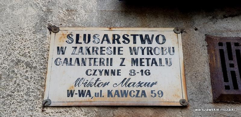 Warszawa Warsaw Praga Północ Grochów szyldy warszawskie szyld retro
