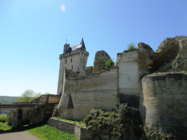 Tour de l'Horlage at the fortress in Chinon