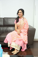 Actress Ritu Varma Pos in Beautiful Pink Anarkali Dress at at Keshava Movie Interview .COM 0282.JPG