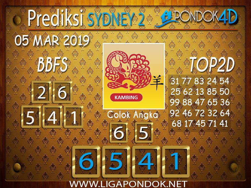 Prediksi Togel SYDNEY2 PONDOK4D 05 MARET 2019