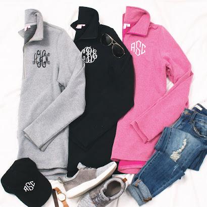 Monogrammed Pullover Sweatshirts