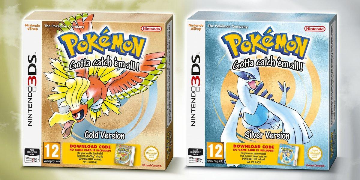 ¡Pokémon Oro y Pokémon Plata de consola virtual con edición física para comprar en nuestro territorio!