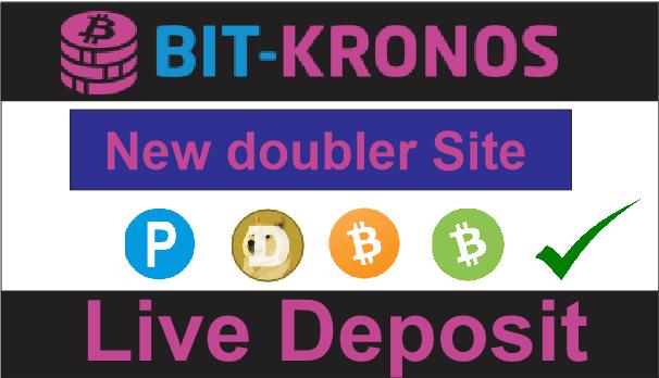 Bit-kronos.ltd New doubler Site 2019 ||Live Deposit