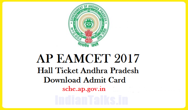 AP EAMCET 2017 Hall Tickets