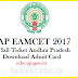 AP EAMCET 2017 Hall Tickets Download @ sche.ap.gov.in Exam Held on 24th April