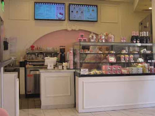 Inside the Hello Kitty Cafe Irvine Center California.