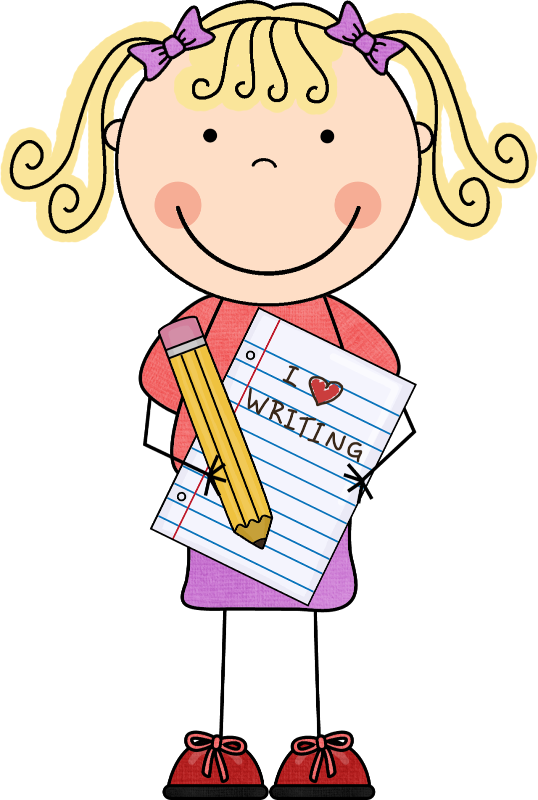 28+ Collection of Students Reading And Writing Clipart