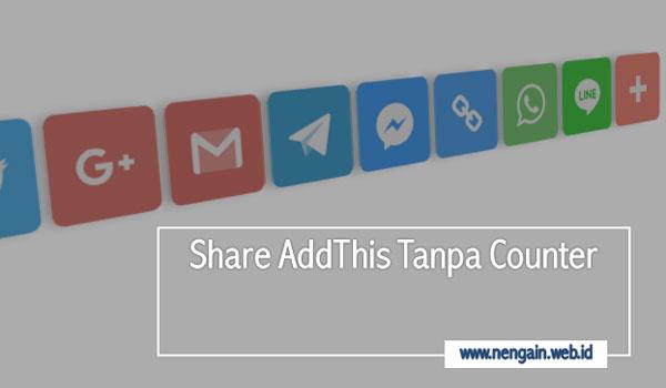 Cara Mudah Membuat Share AddThis Tanpa Counter Blog AMP HTML