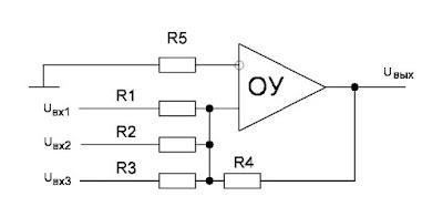 Принципиальная схема неинвертирующего операционного усилителя