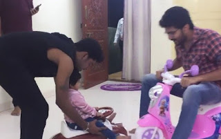 kavin playing with the Sandy Master  children Lala