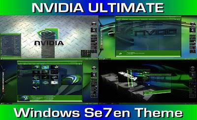 NVIDIA THEME WINDOWS 7 TERBARU COOL