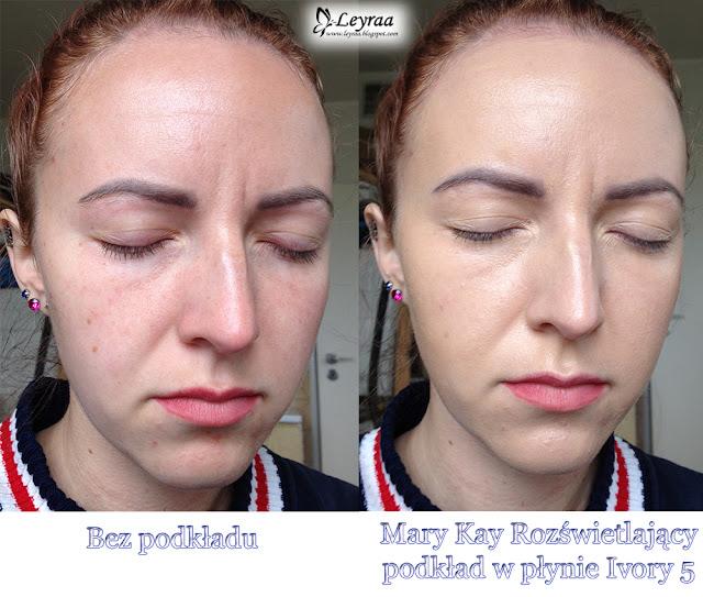 Mary Kay Matujący i rozświetlający podkład w płynie Ivory 5 & Mineralny podkład pudrowy Ivory 2