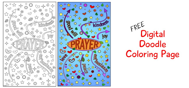 Prayer vibration coloring page