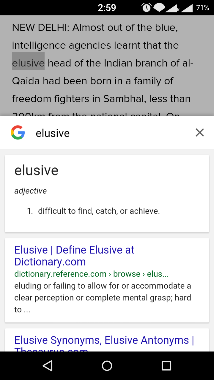 How to use google as a dictionary while you surfing on web in