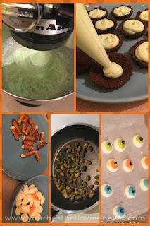 pistachio cauldron tart progress