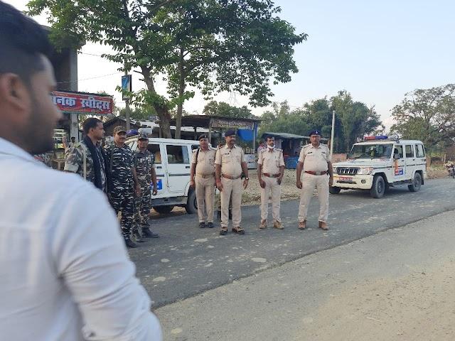 सुजातपुर में पुलिस ने किया जॉइंट पेट्रोलिंग