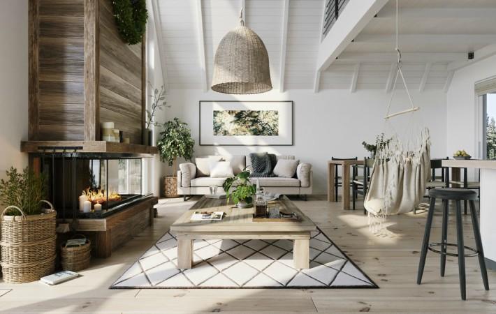 Una casa maravillosa con atmósfera escandinava
