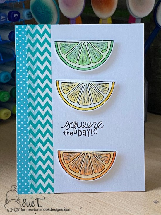 Squeeze the day by Sue T. features Lemon Twist by Newton's Nook Designs; #newtonsnook