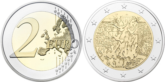 France 2 euro 2019 - Fall of the Berlin Wall