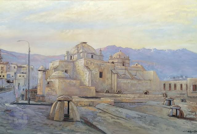 Pintura al óleo del Monasterio de Santa Catalina