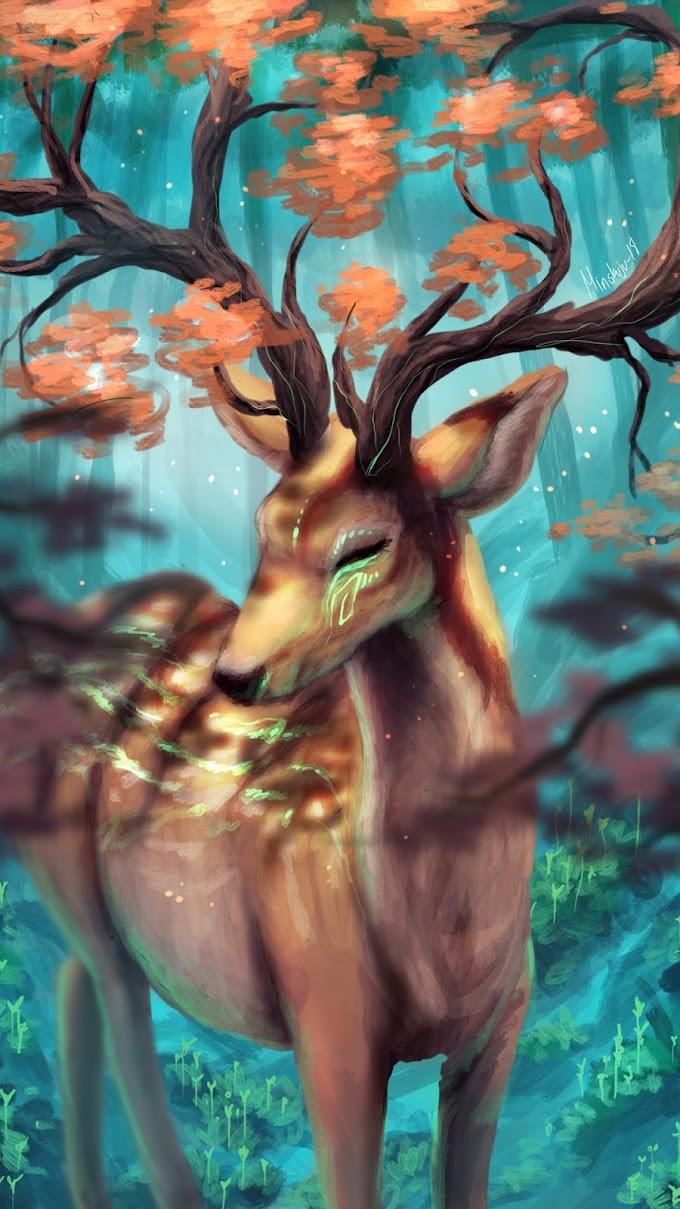 Cervo, Chifres, Floresta, Arte